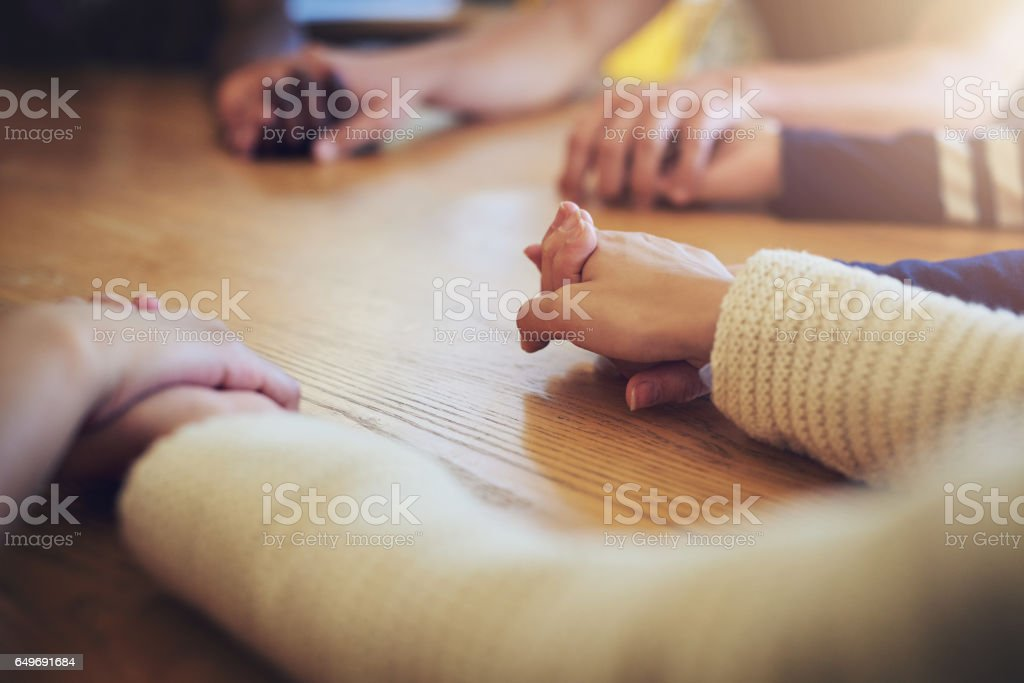 Together, we can get through anything stock photo