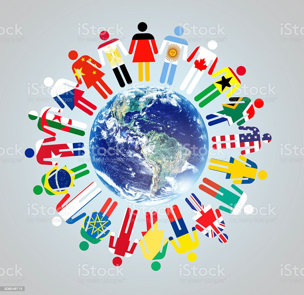 Together we make a difference! stock photo