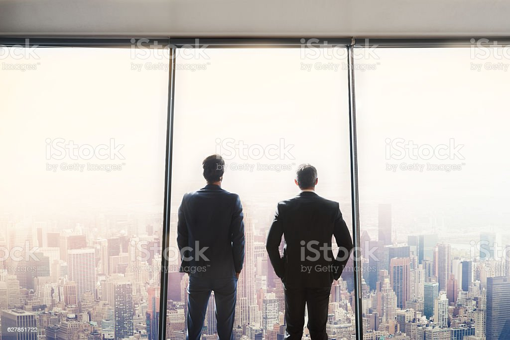 Together we'll take over this city stock photo