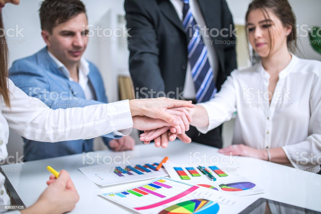 Togethernes in firm stock photo