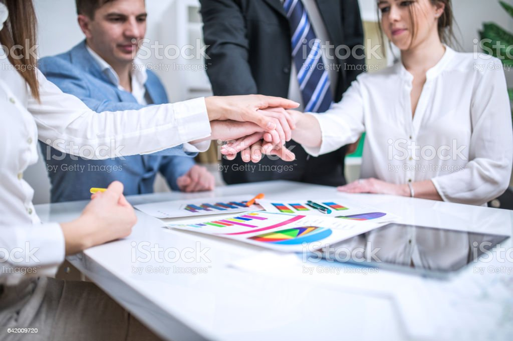 Togethernes in office stock photo