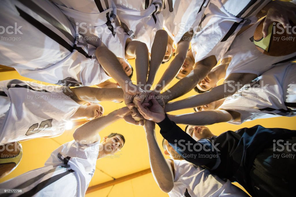 Togetherness in sport stock photo