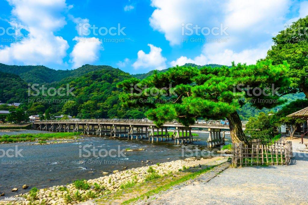 Togetsukyo Bridge in Arashiyama Kyoto Japan - foto stock