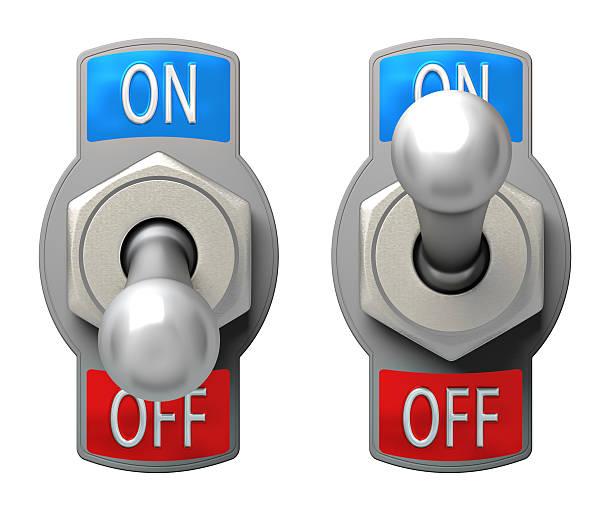 interrupteur à bascule - commutateur photos et images de collection