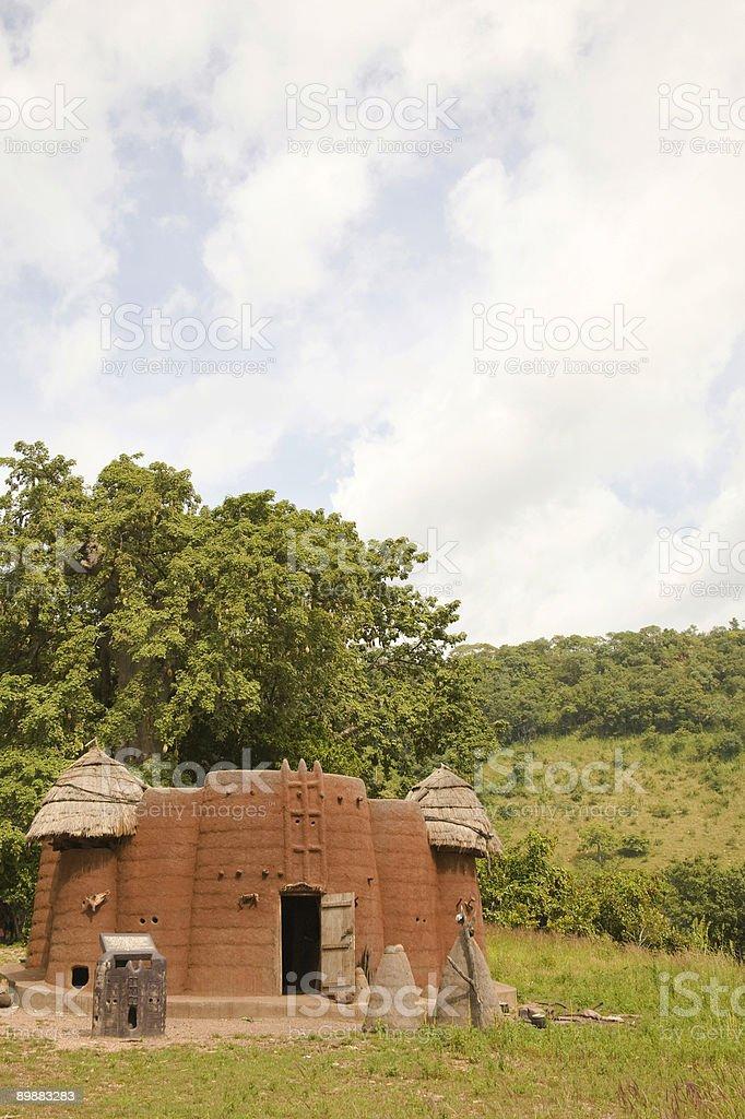 Того, Африка: Семья соединение Здание Koutammakou Всемирного наследия ЮНЕСКО. Стоковые фото Стоковая фотография
