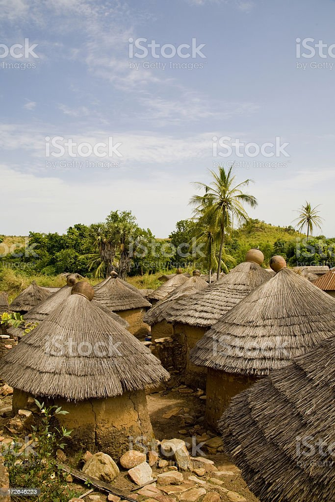 Togo, Africa: Tenaka Village in the Northeast stock photo