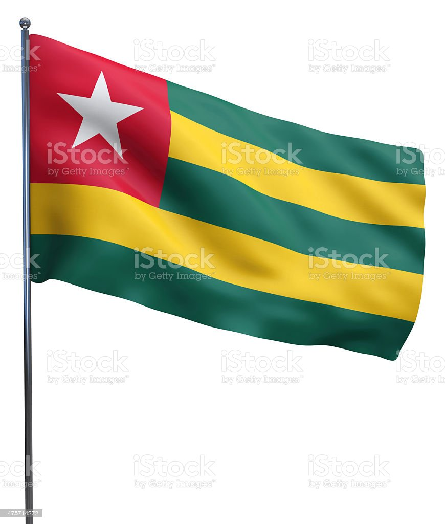 Togo Flag Waving stock photo
