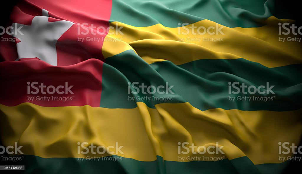 Togo, Lomé national official state flag stock photo