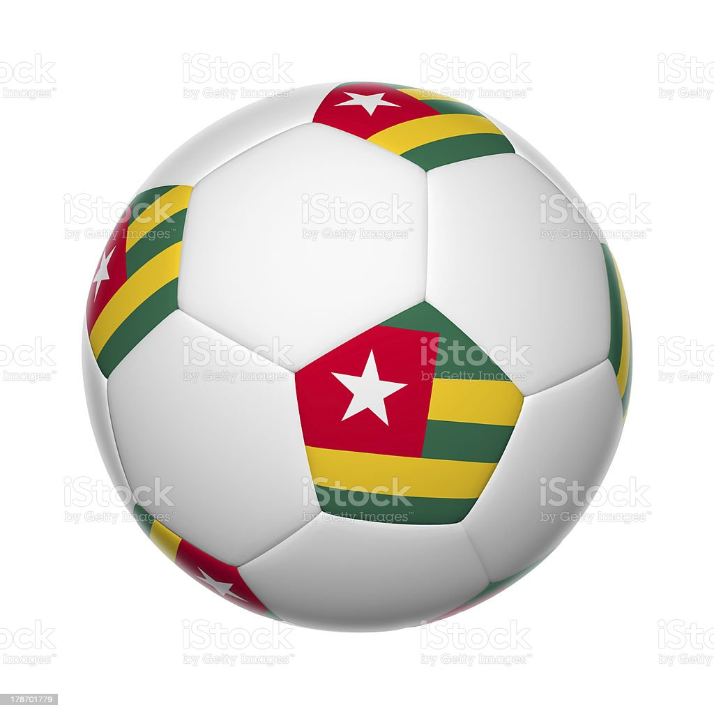 Togo soccer ball stock photo