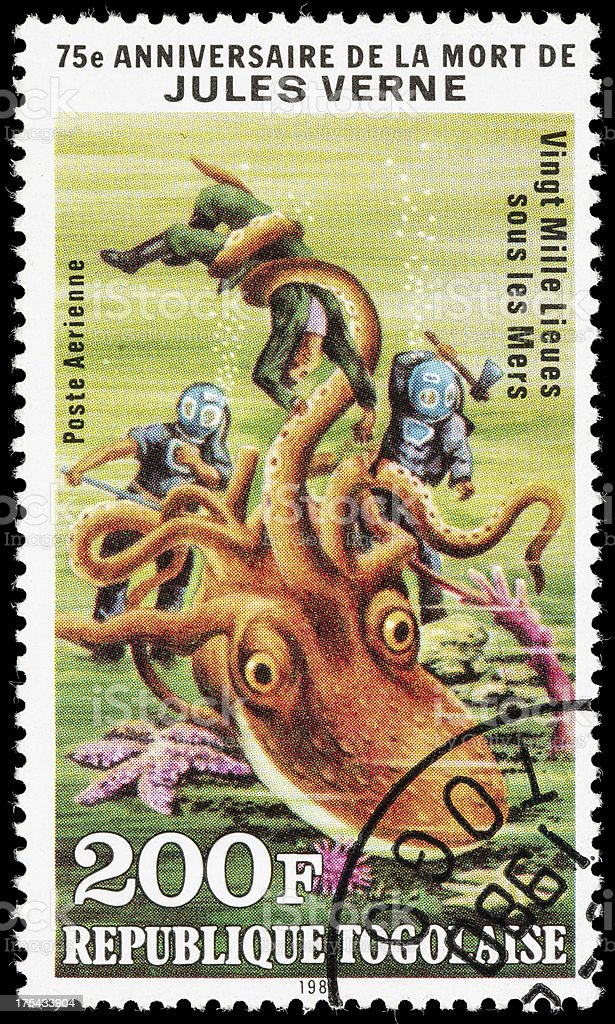 Togo Twenty Thousand Leagues Under the Sea postage stamp stock photo