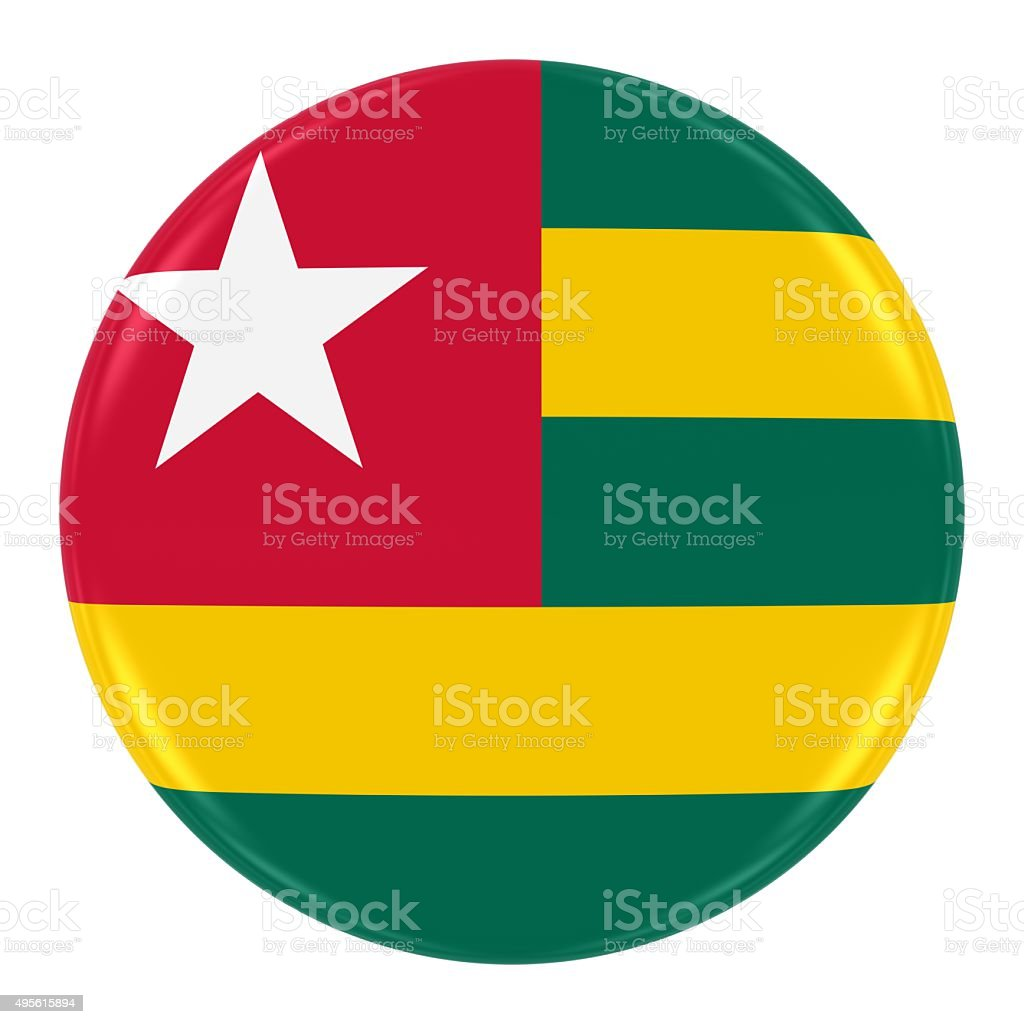 Togolese Flag Badge stock photo