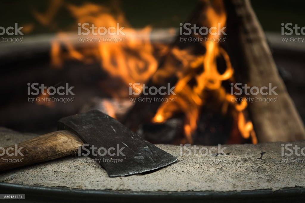 Toil and Fire stock photo