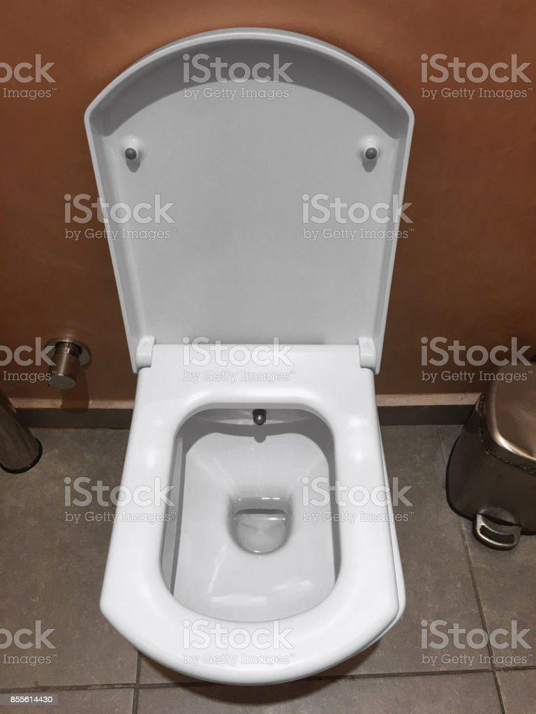 Toilet and tissue stock photo