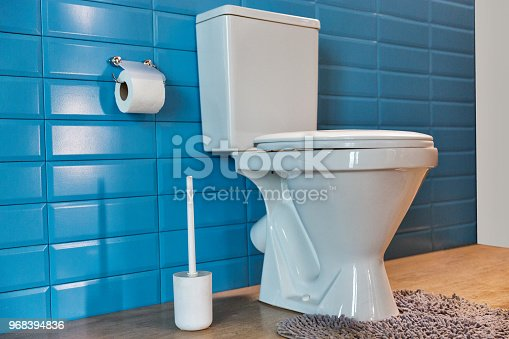 istock toilet bowl in the bathroom 968394836