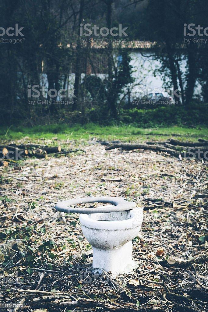 Toilet Bowl, Outdoor royalty-free stock photo