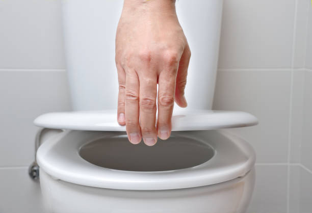 vaso sanitário - banheiro instalação doméstica - fotografias e filmes do acervo