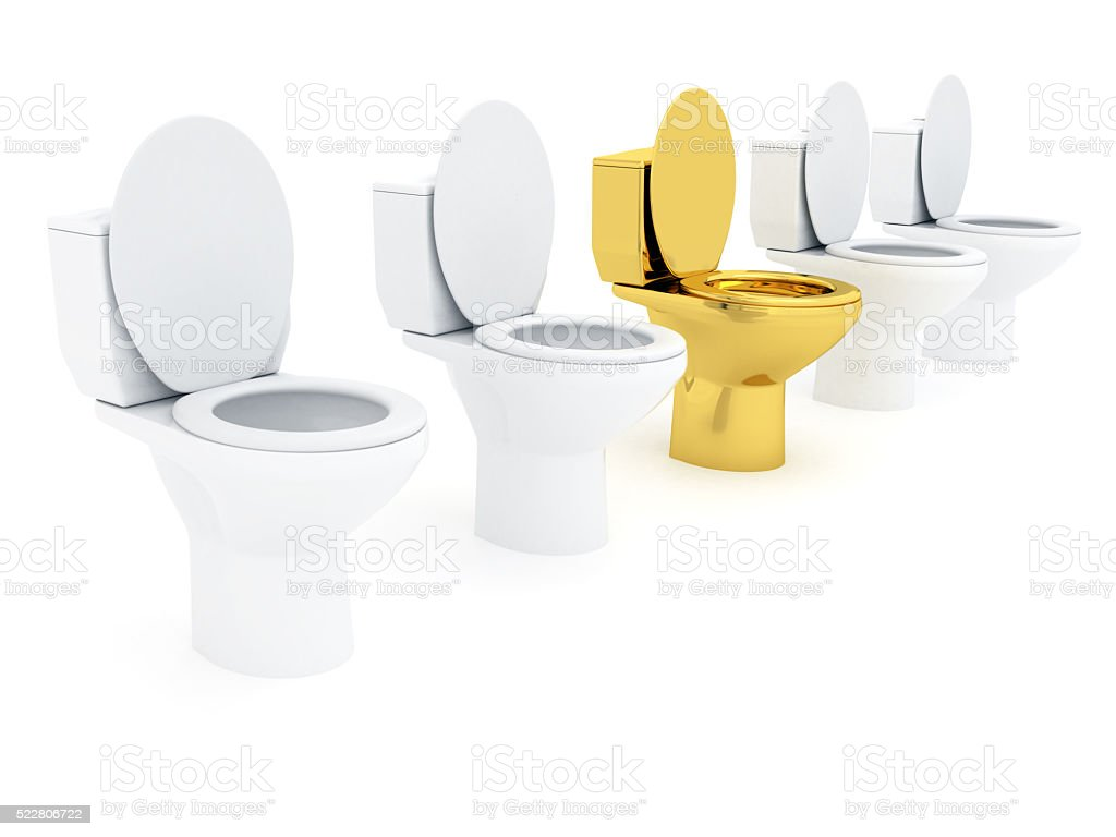 VIP Toilet bowl stock photo