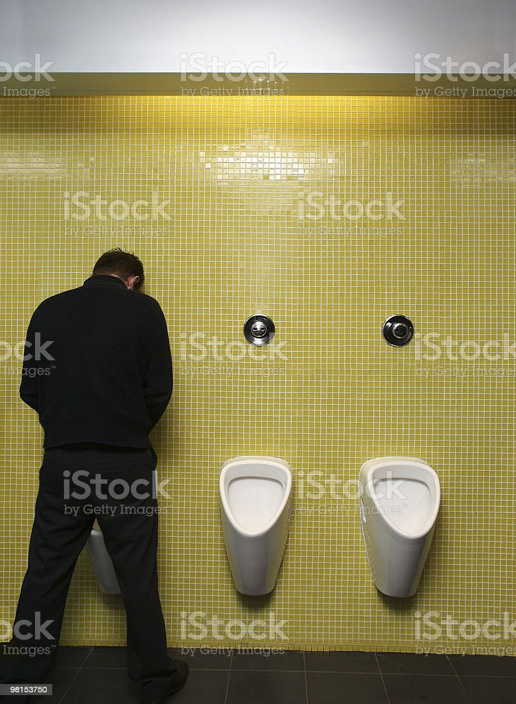 Toilet break royalty-free stock photo