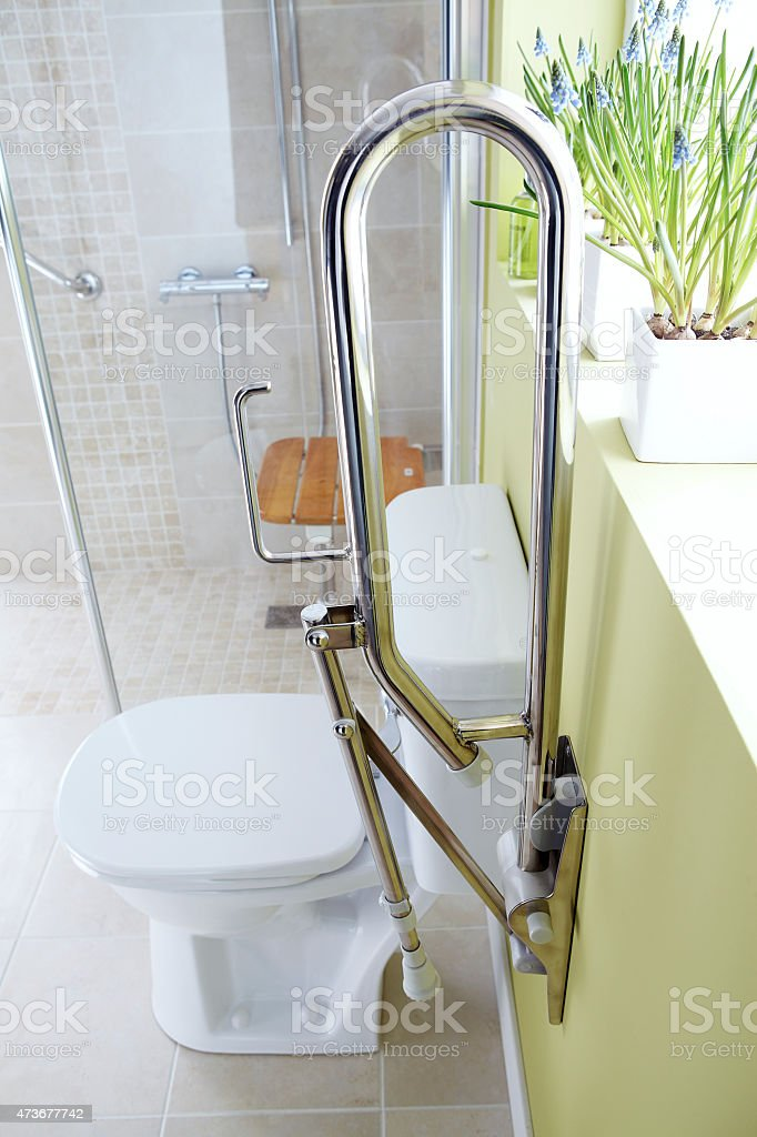 Toilet for disabled people stock photo