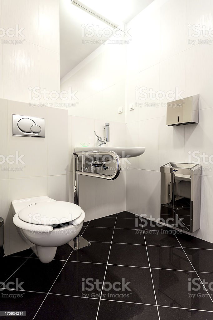 Toilet for disabled royalty-free stock photo