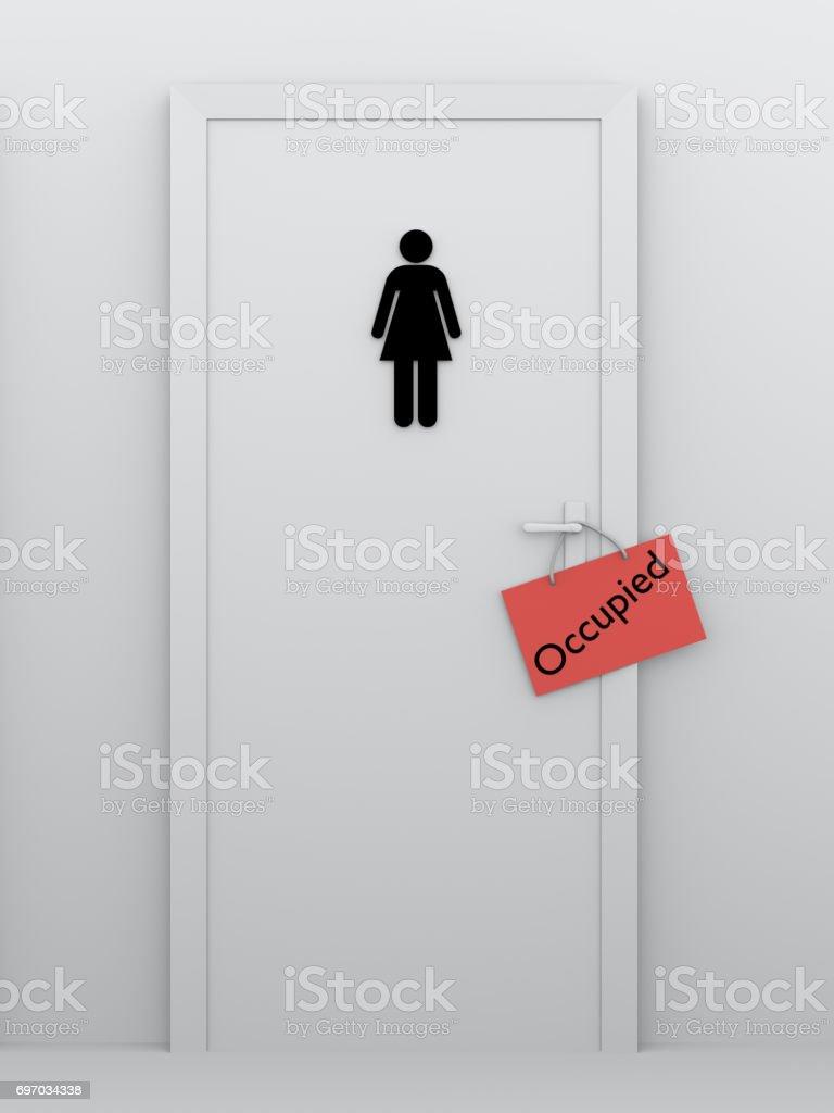 Toilette für Frauen besetzt – Foto