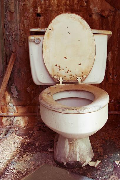 toilet grunge stock photo