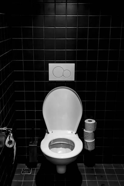 Toilet in Bathroom stock photo