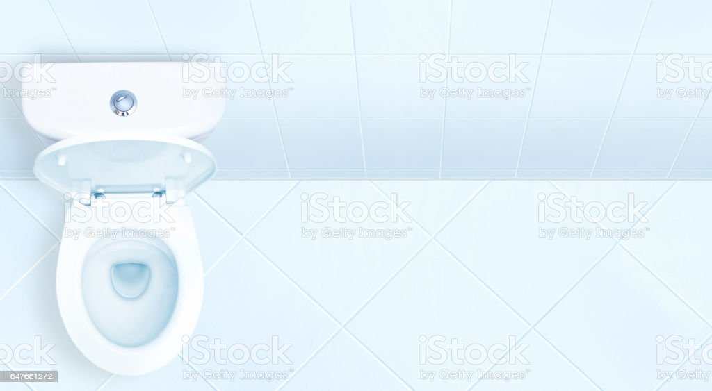 Toilet in the bathroom. stock photo