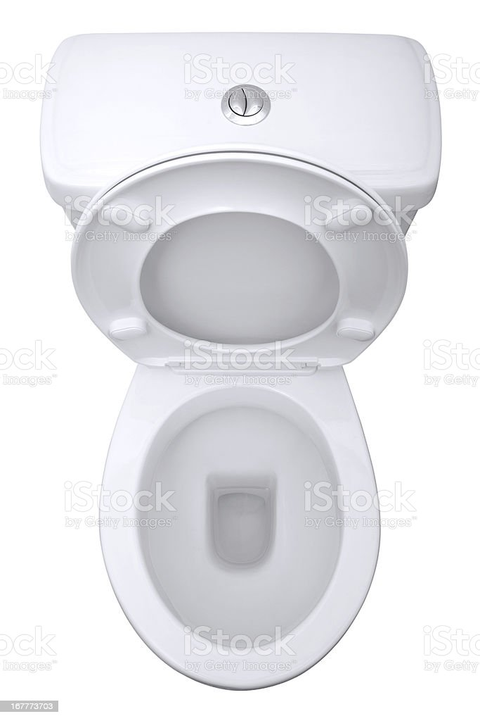Toilet isolated stock photo
