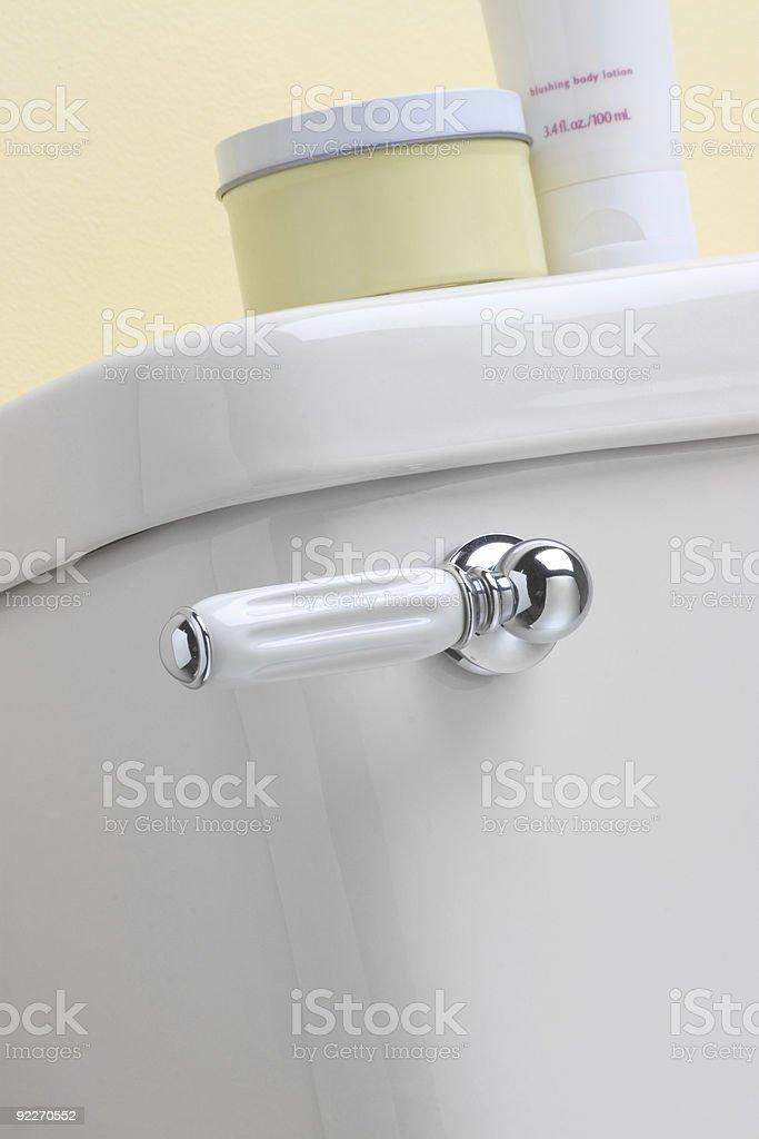 Toilet Lever Handle stock photo