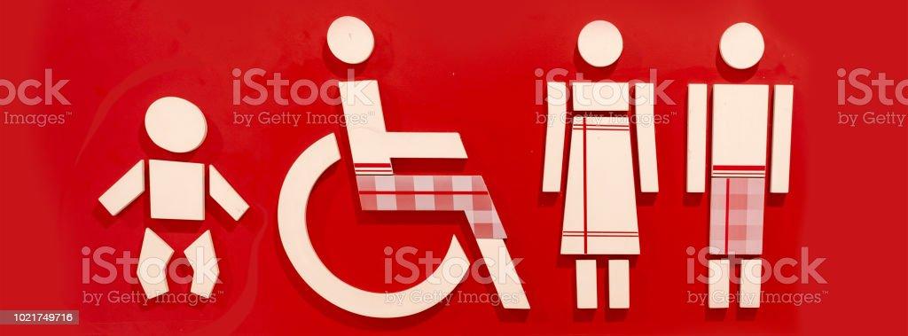 WC-Logo auf rotem Grund. – Foto