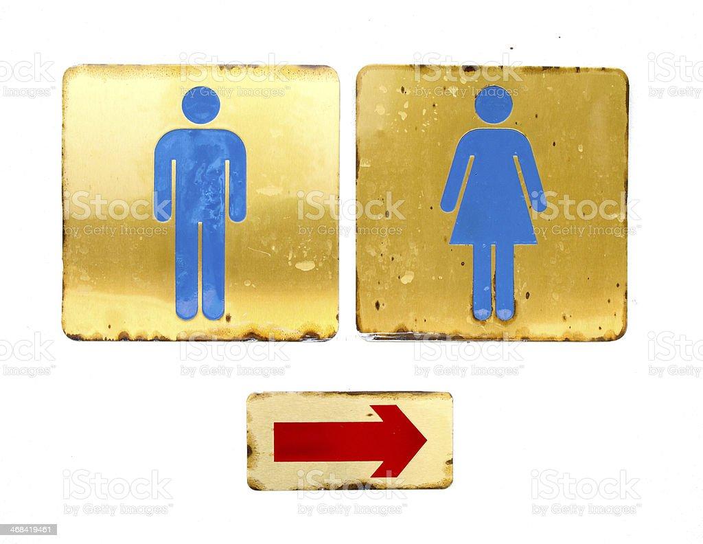 Toilette logo mit weißer Wand Hintergrund – Foto