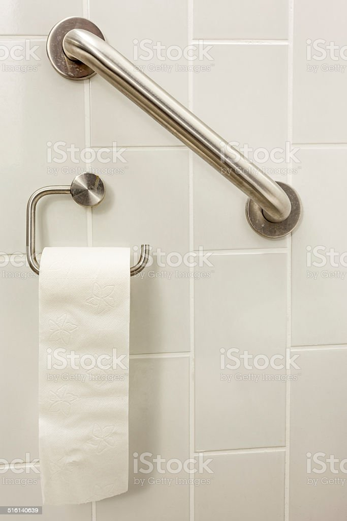 toilet paper bar stock photo