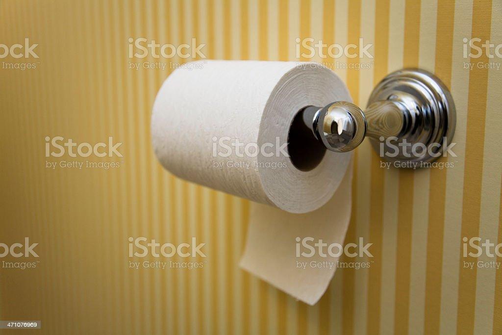 Toilet Paper - Hanging UNDER, in Nice Bathroom stock photo
