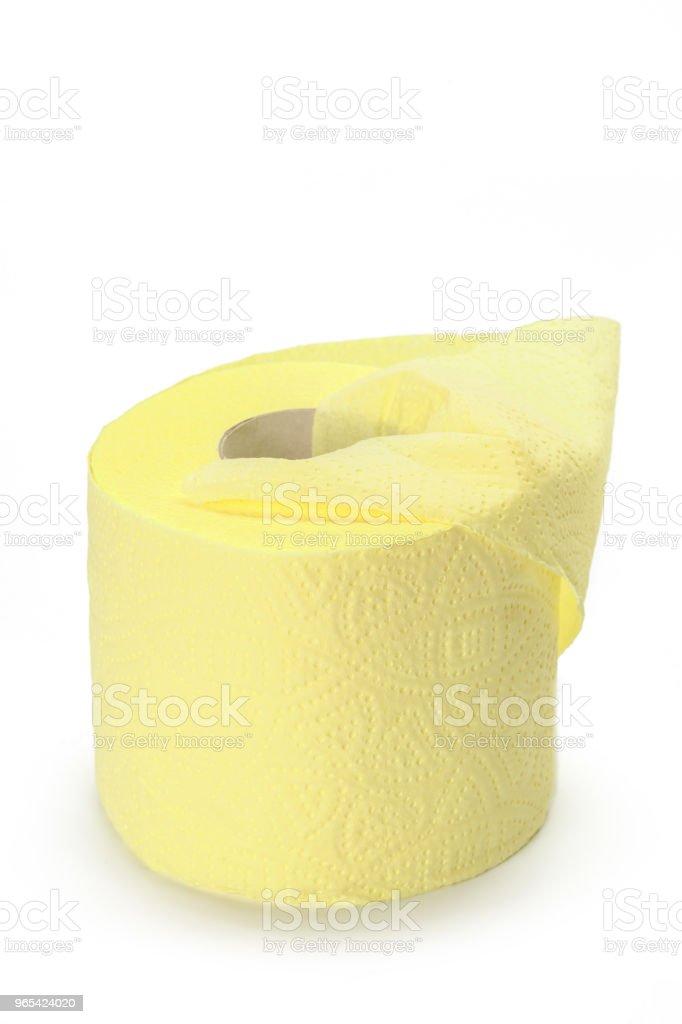 白色背景廁紙 - 免版稅一個物體圖庫照片