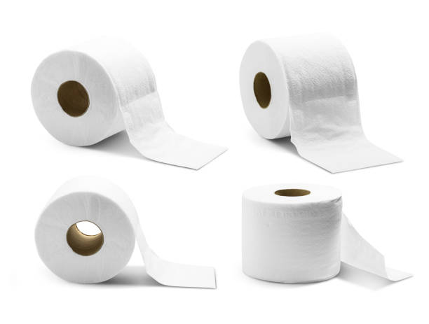 Toilet paper isolated Roll of toilet paper isolated on white background with clipping path toilet paper stock pictures, royalty-free photos & images