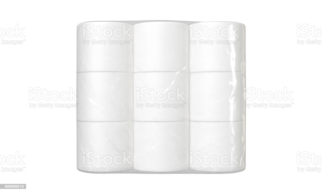 Toilet Paper Packaging stock photo