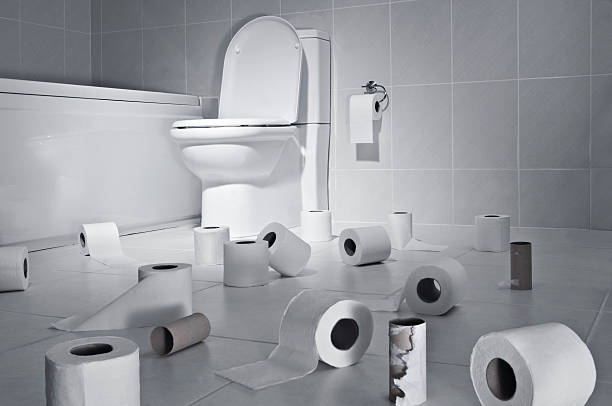toilet paper - diarrhea stock pictures, royalty-free photos & images