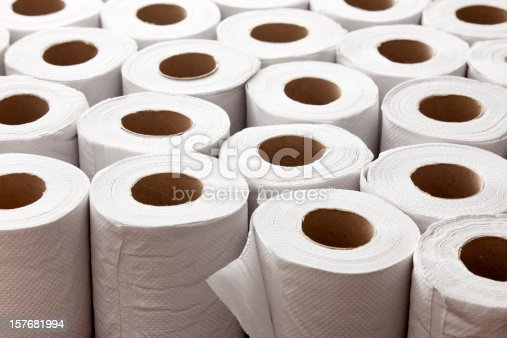 Lots of toilet paper rolls