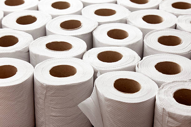 Toilet paper Lots of toilet paper rolls toilet paper stock pictures, royalty-free photos & images