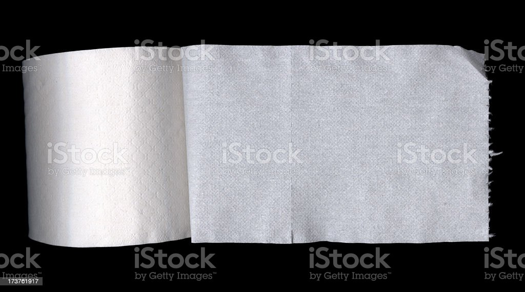 Toilet paper royalty-free stock photo