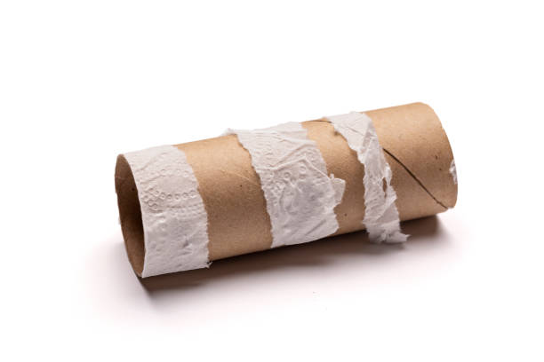 toilet paper shortage empty roll - mphillips007 stock pictures, royalty-free photos & images