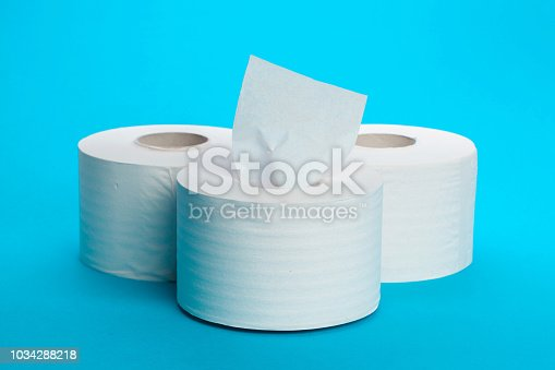 istock Toilet paper unrolling 1034288218