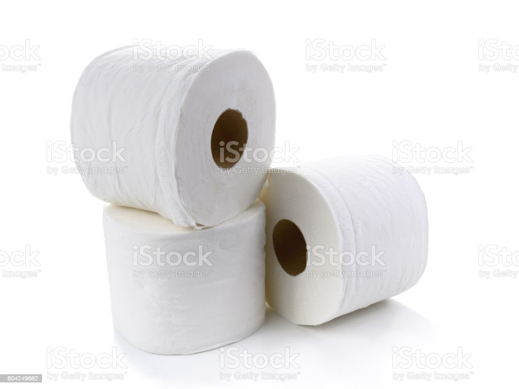 Toilet paper-Tissue paper roll stock photo