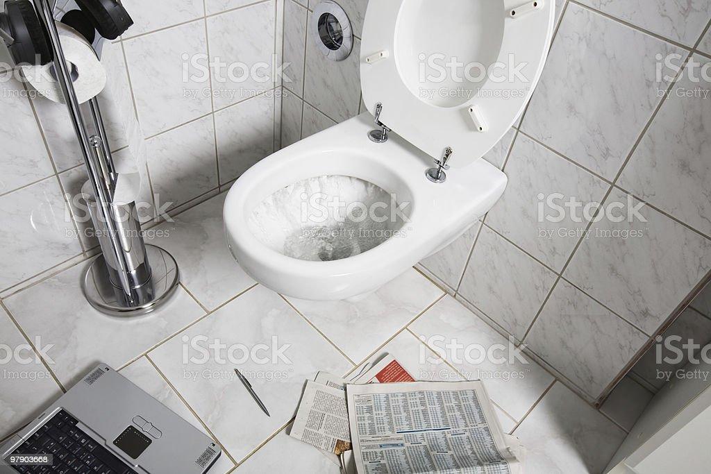 Toilet royalty-free stock photo