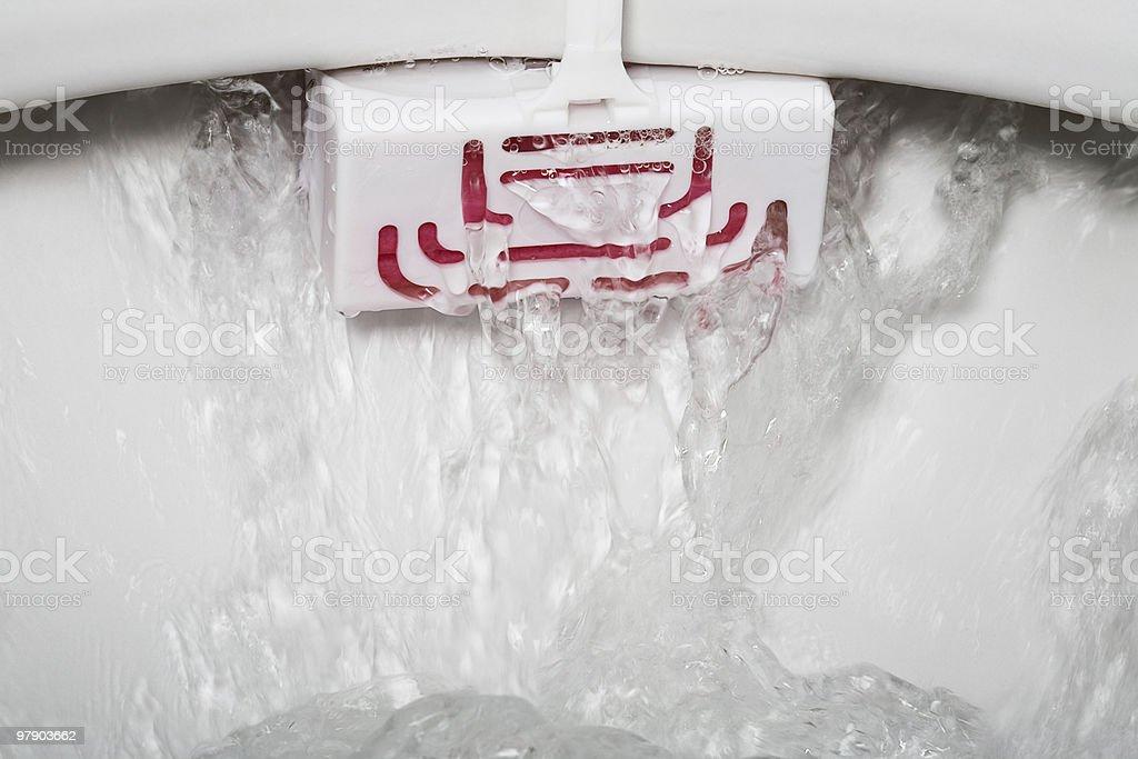 Toilet rim block royalty-free stock photo