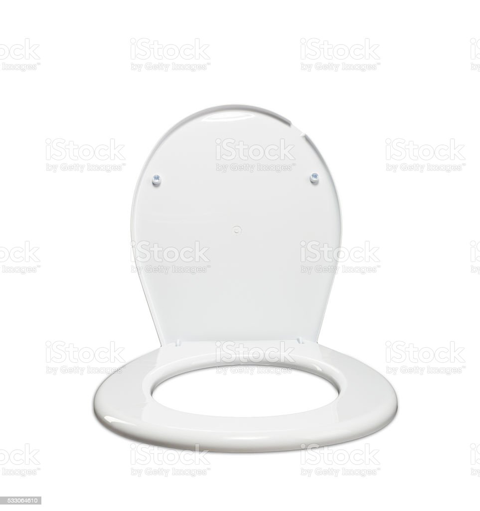 Toilet seat lid on the chair stock photo