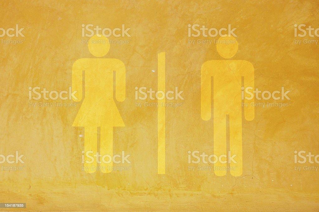 WC-Schild auf Zement Mauer – Foto