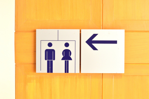 Toilet Sign Stock Photo - Download Image Now