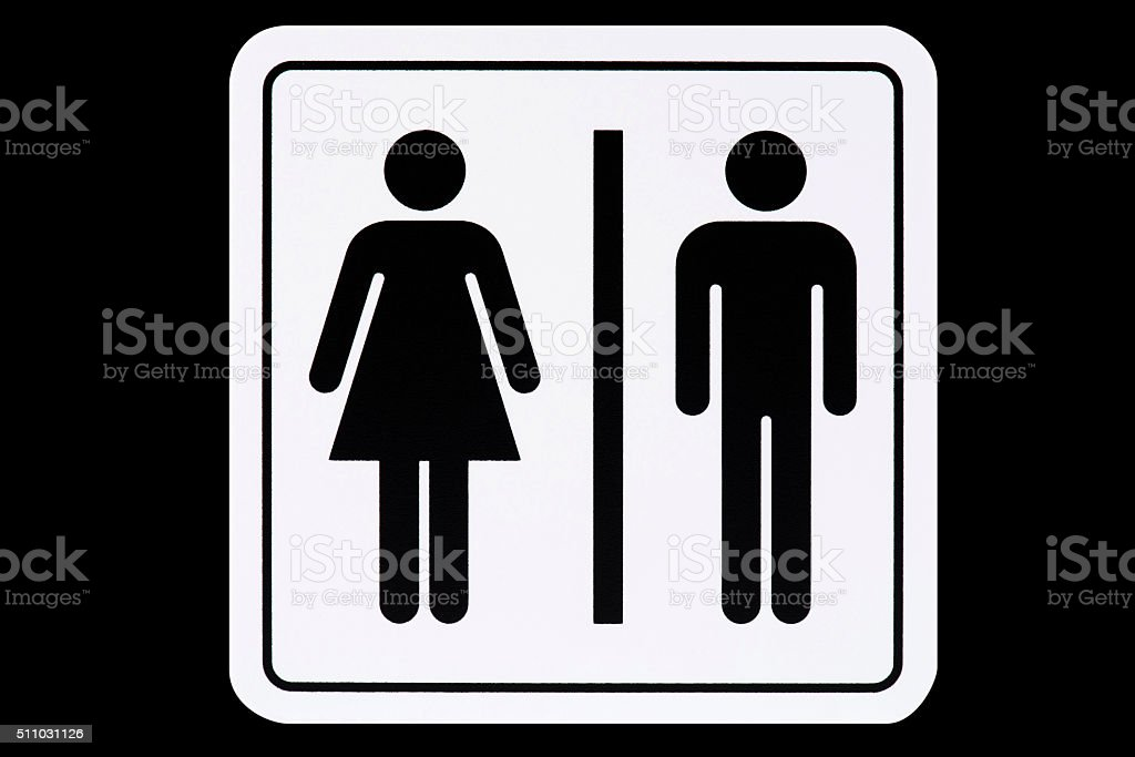 Toilet Sign stock photo